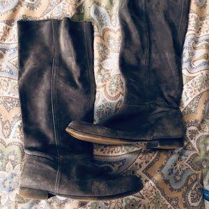 Nine West Shoes - Nine West grey suede boots